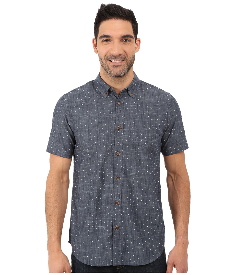 Prana - Broderick Slim Fit Shirt (Indigo) Men's Short Sleeve Button Up