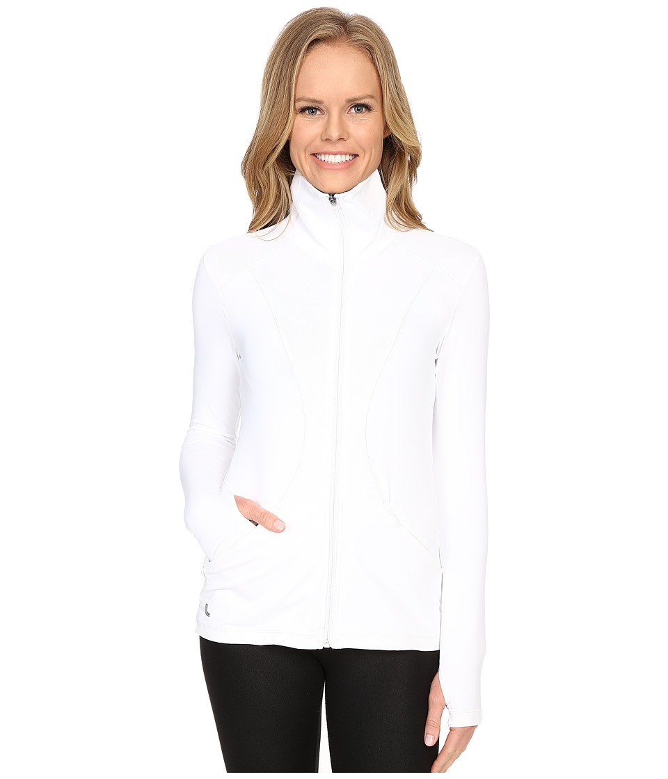 Lole - Essential Cardigan (White) Women's Sweater