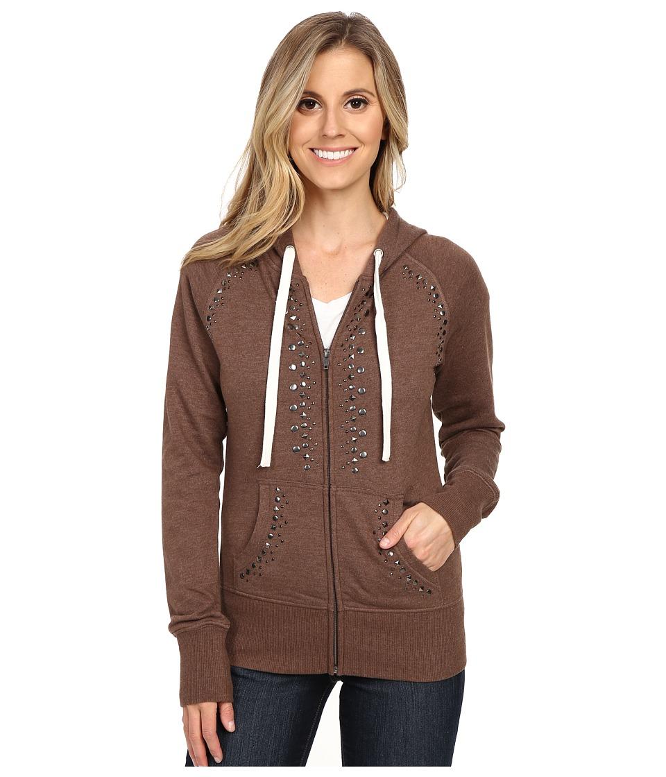 Ariat - Bensonhurst Zip Hoodie (Bitter Chocolate Heather) Women's Sweatshirt