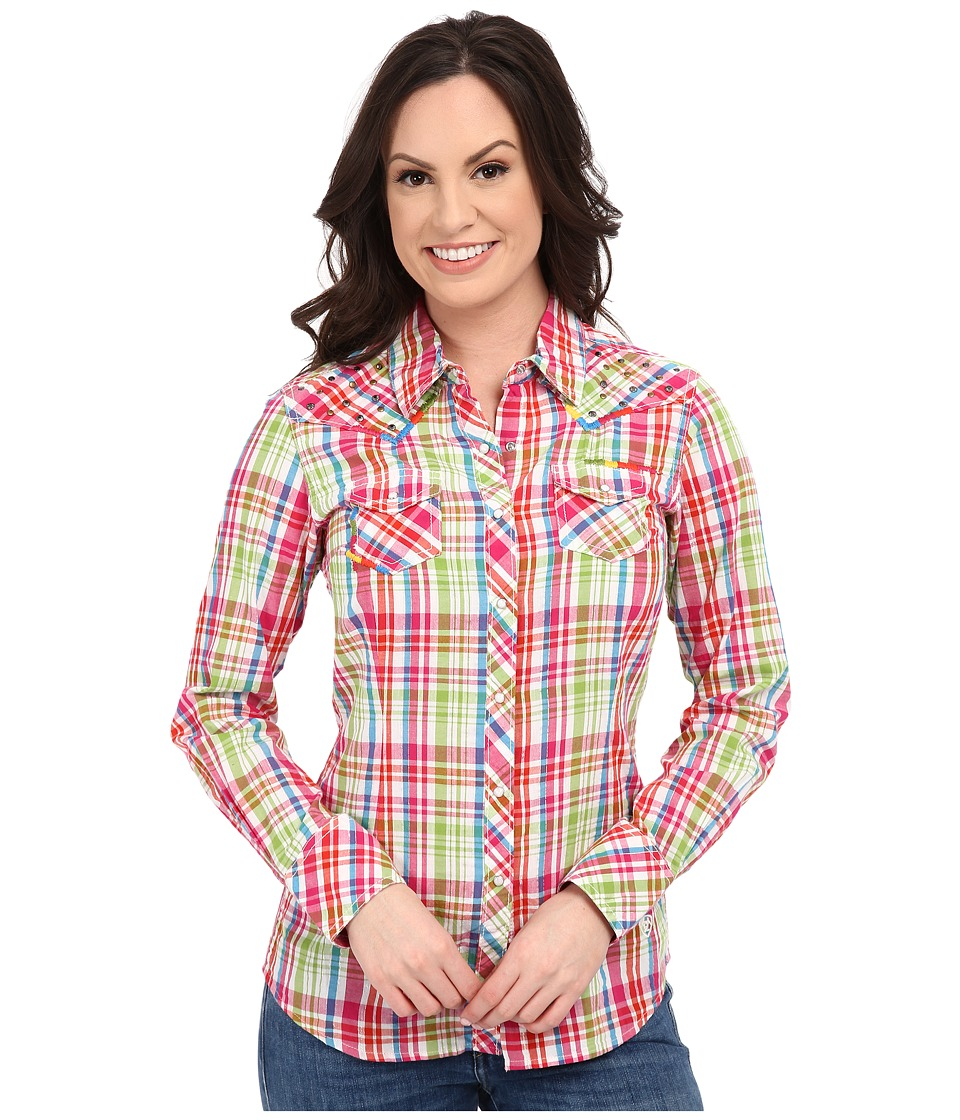 Ariat - Austen Snap Shirt (White Multi) Women's Long Sleeve Button Up