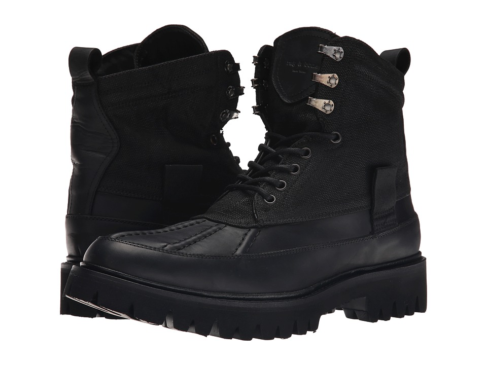 rag & bone - Spencer Duck Boot (Black Combo) Men's Lace-up Boots