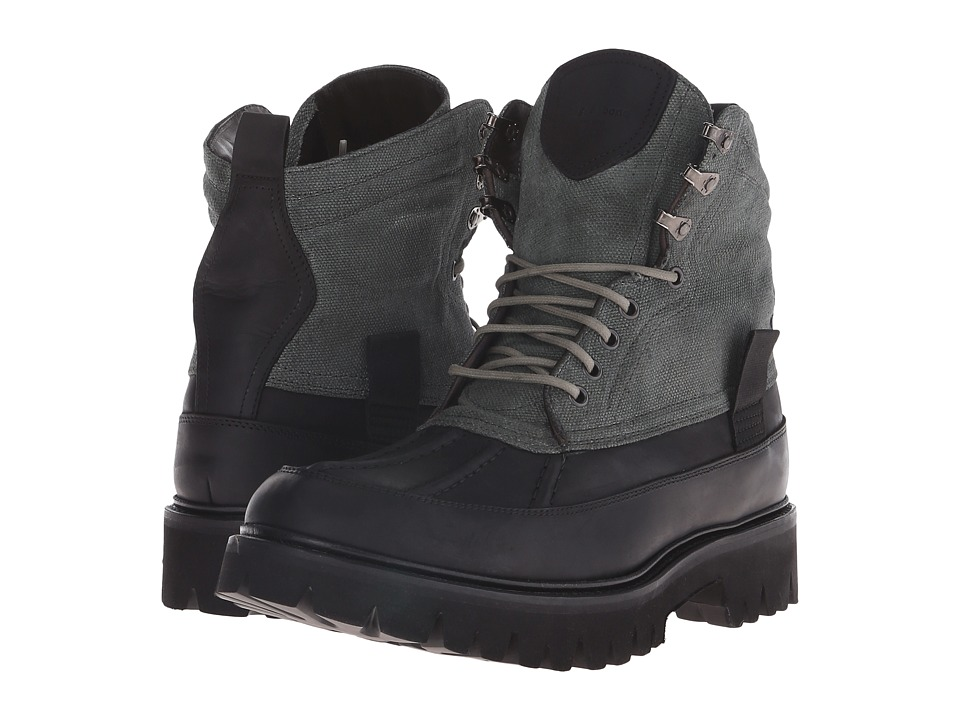 rag & bone - Spencer Duck Boot (Dark Green Combo) Men's Lace-up Boots