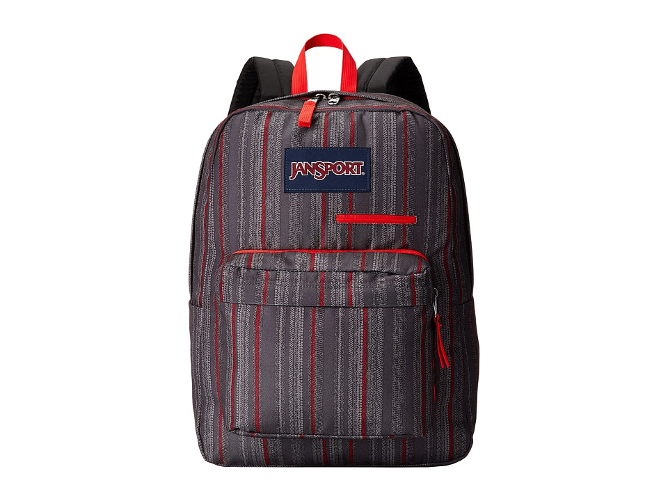 JanSport - Digibreak (Red Tape Grunge Stripe) Backpack Bags