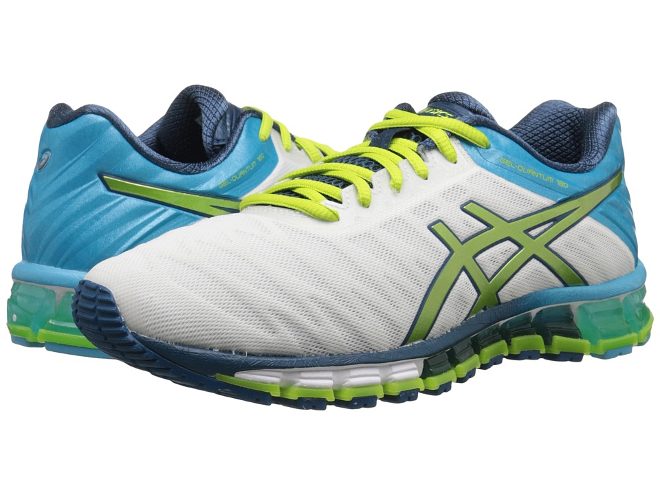 ASICS - GEL-Quantum 180 (White/Lime/Turquoise) Women's Running Shoes