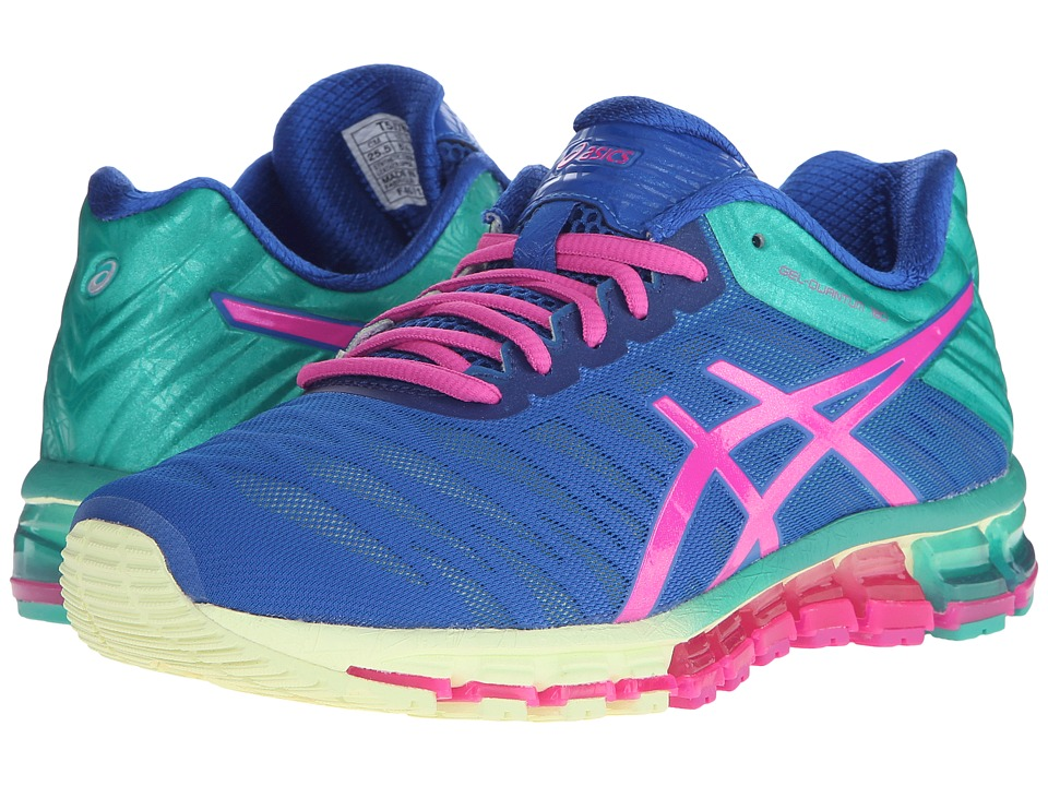 ASICS - GEL-Quantum 180 (Snorkle Blue/Pink Glow/Peacock Green) Women's Running Shoes