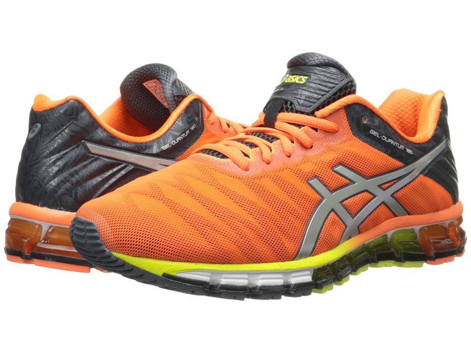 ASICS - GEL-Quantum 180 (Hot Orange/Silver/Dark Slate) Men's Running Shoes