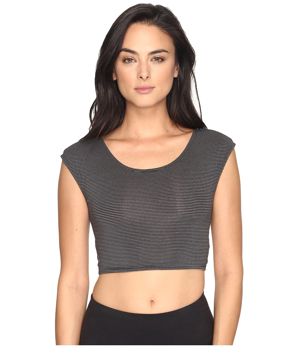 Lole - Phoebe Top (Black Stripe) Women's Short Sleeve Pullover
