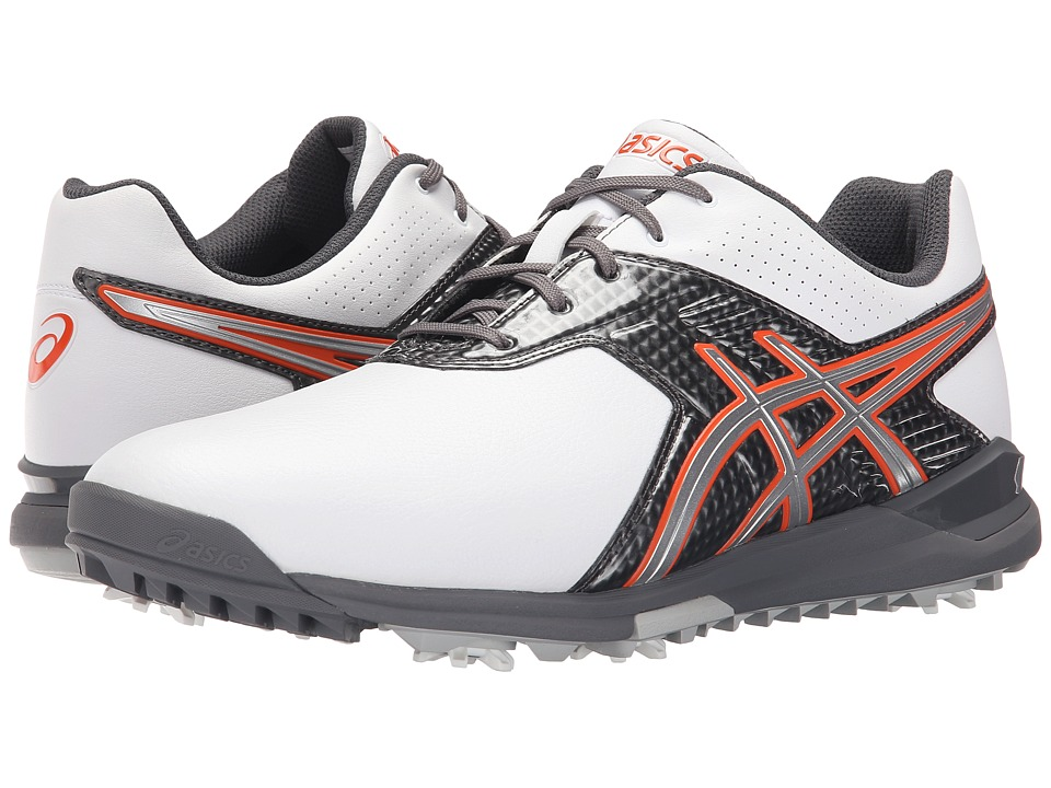 ASICS - Gel-Ace Tour 2 (White/Titanium/Fiesta) Men's Golf Shoes