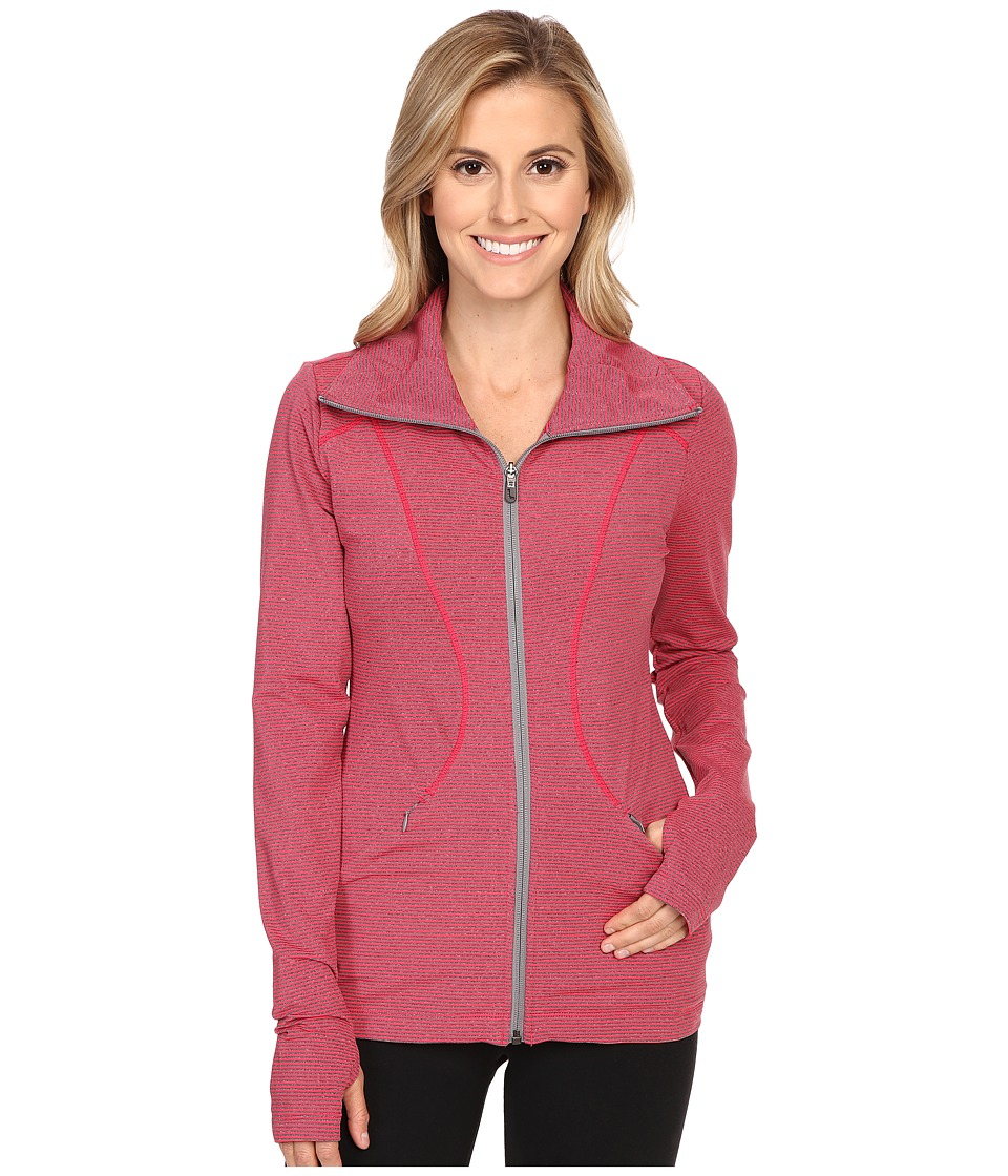 Lole - Essential Cardigan (Strawberry Pro Stripe) Women's Coat
