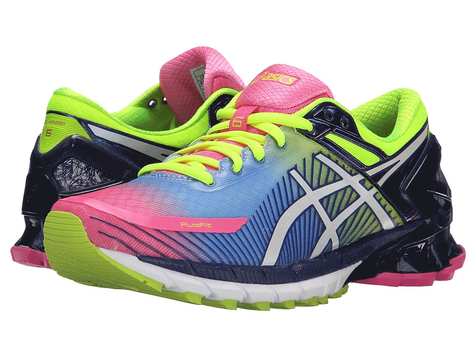 ASICS - GEL-Kinsei 6 (Hot Pink/White/Flash Yellow 1) Women's Running Shoes