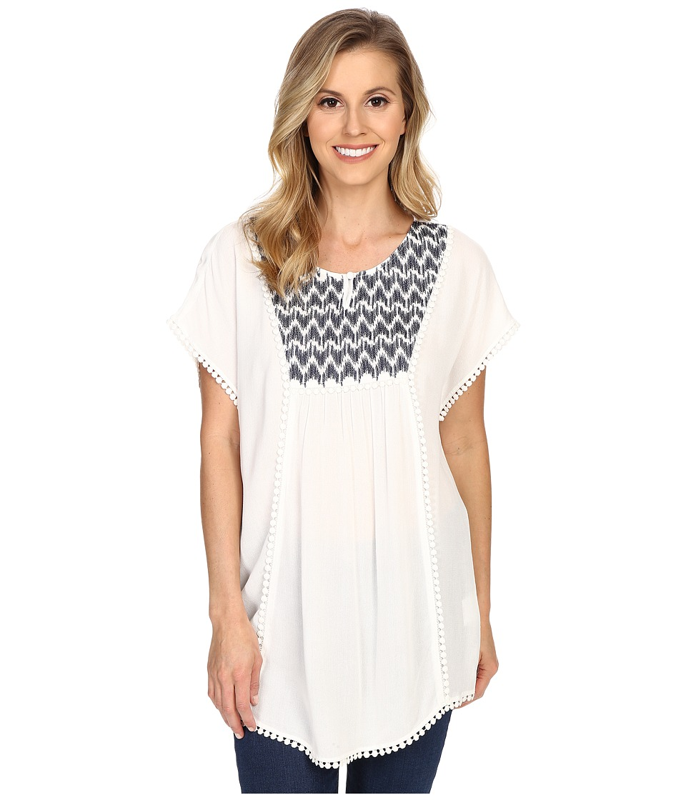 Ariat - Gloria Tunic (Snow White) Women's Short Sleeve Pullover