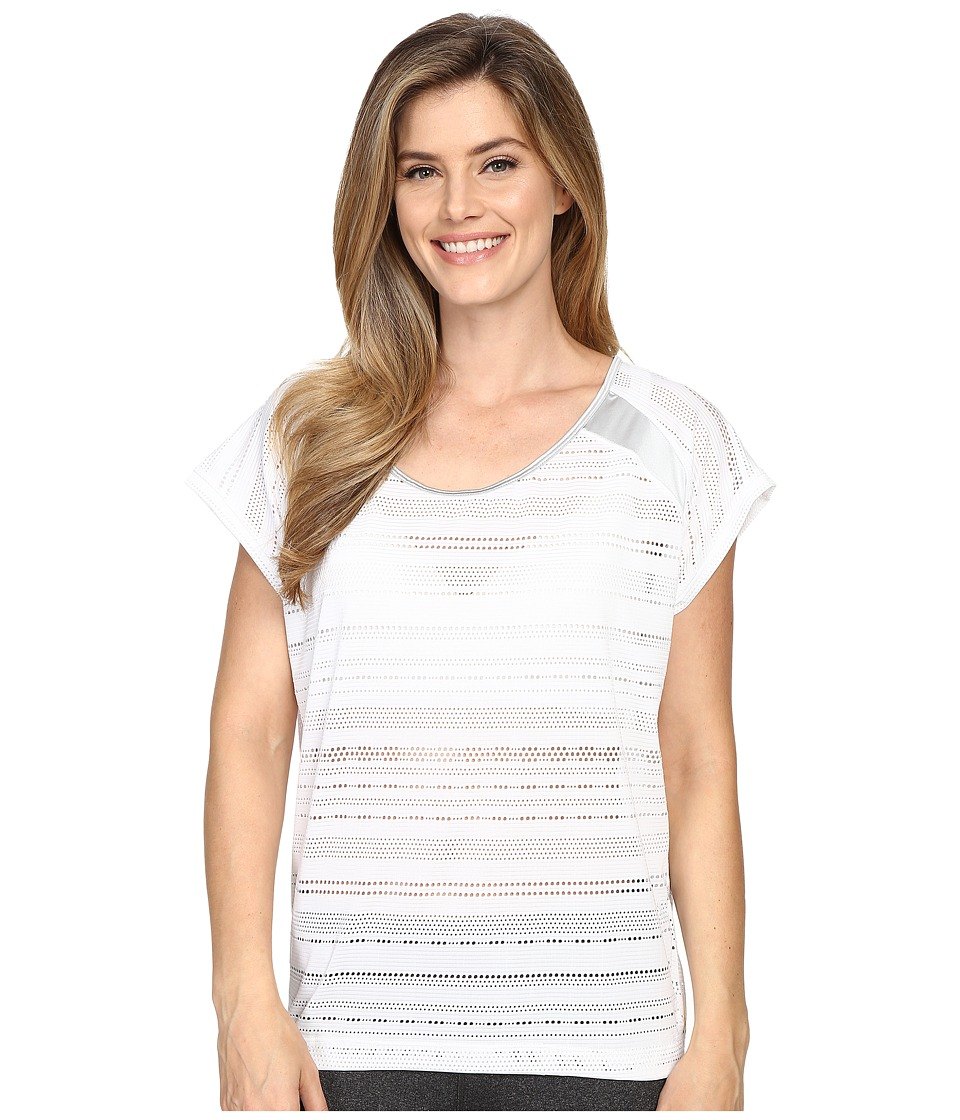 Lole - Sybil Top (White) Women's Short Sleeve Pullover