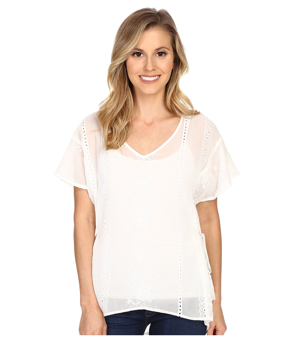 Ariat - Andrea Top (Snow White) Women's Short Sleeve Pullover