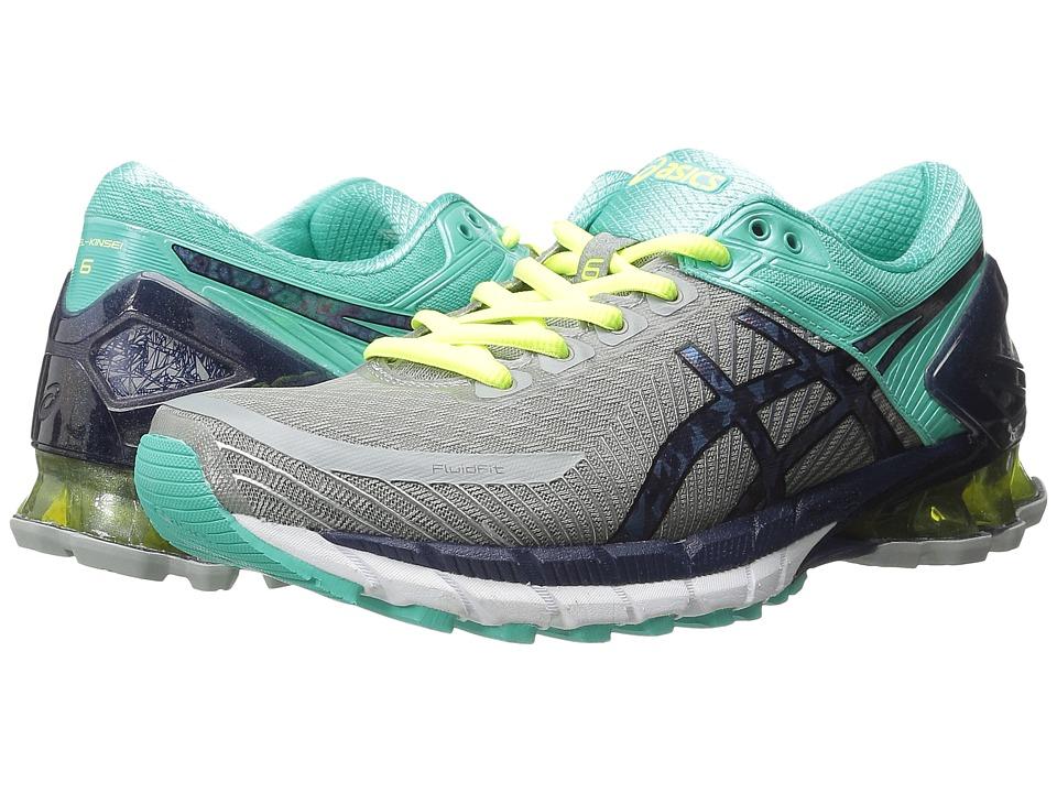 ASICS - GEL-Kinsei(r) 6 (Light Grey/Titanium/Mint) Women's Running Shoes