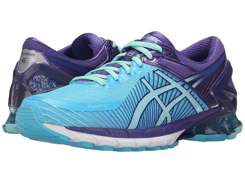 Asics GEL-Kinsei(r) 6 (Turquoise/Aqua Mint/Purple) Women'...