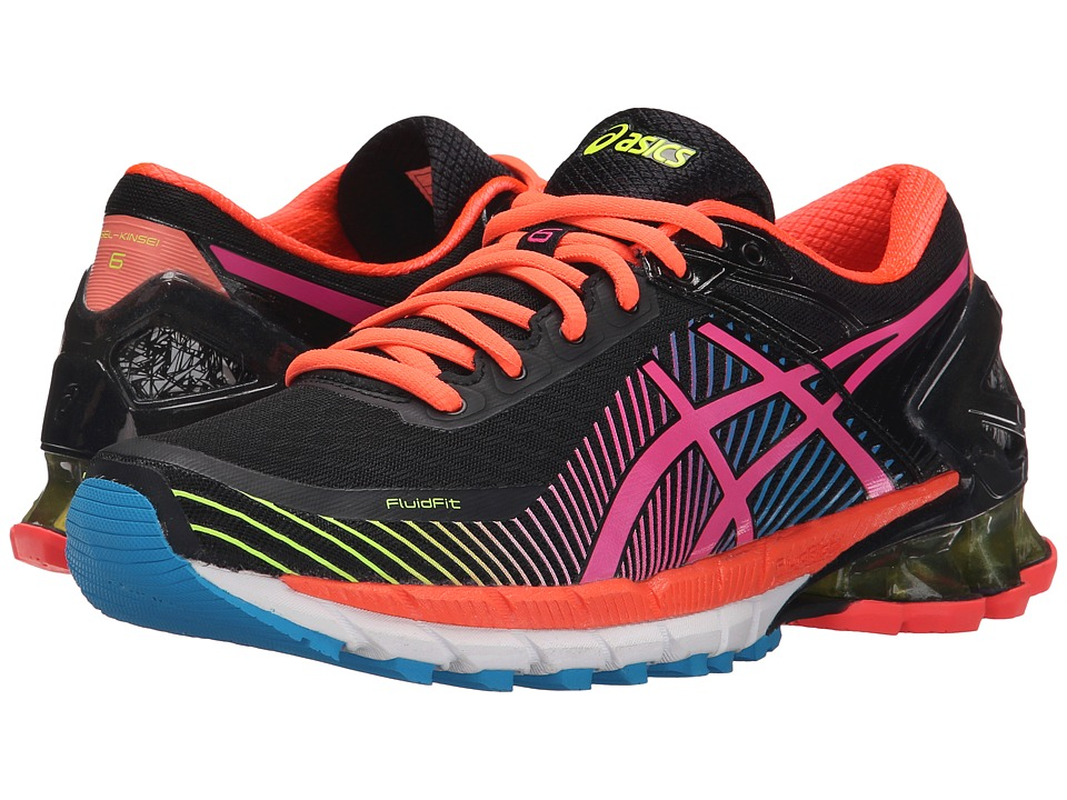 ASICS - GEL-Kinsei 6 (Black/Hot Pink/Flash Yellow) Women's Running Shoes