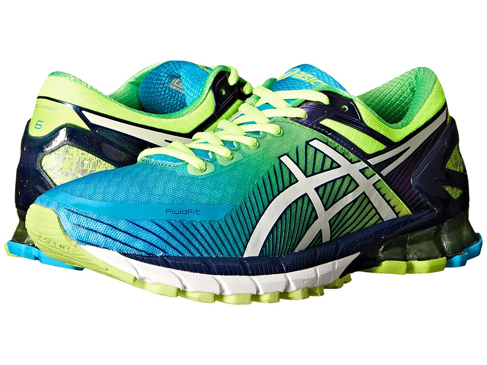ASICS - GEL-Kinsei 6 (Flash Yellow/White/Blue 1) Men's Running Shoes
