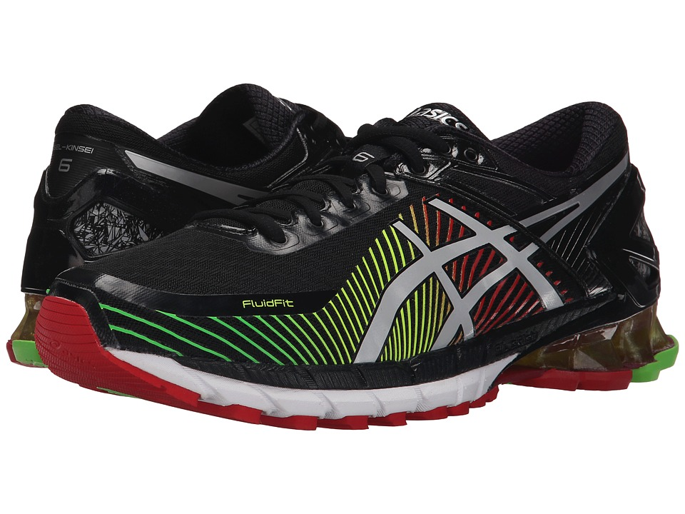 ASICS - GEL-Kinsei 6 (Black/Silver/Red) Men's Running Shoes