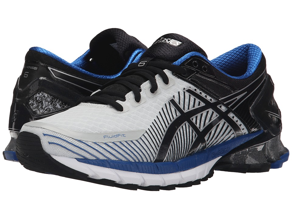 ASICS - GEL-Kinsei 6 (Silver/Black/Blue) Men's Running Shoes