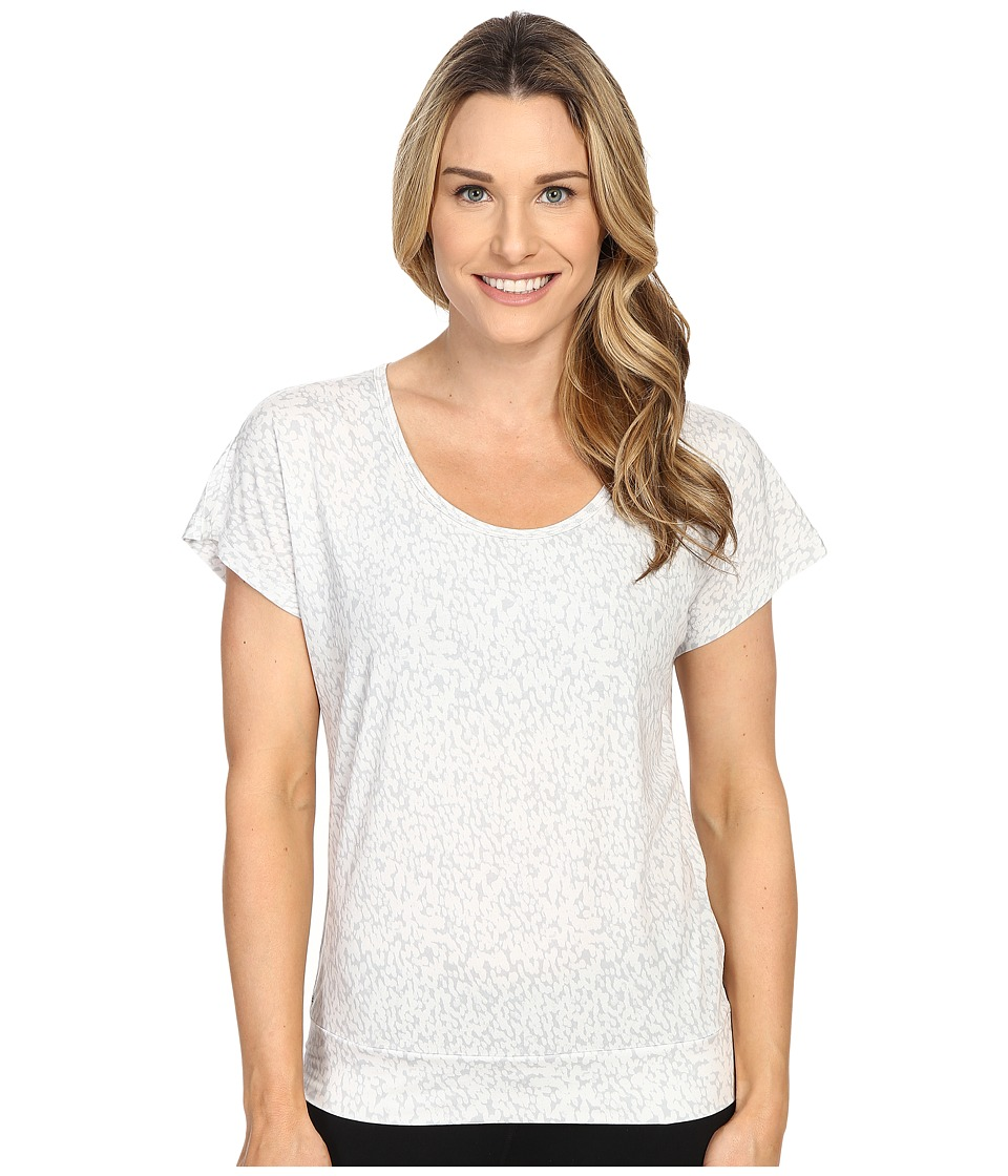 Lole - Sheila Top (White Footprint) Women's Short Sleeve Pullover
