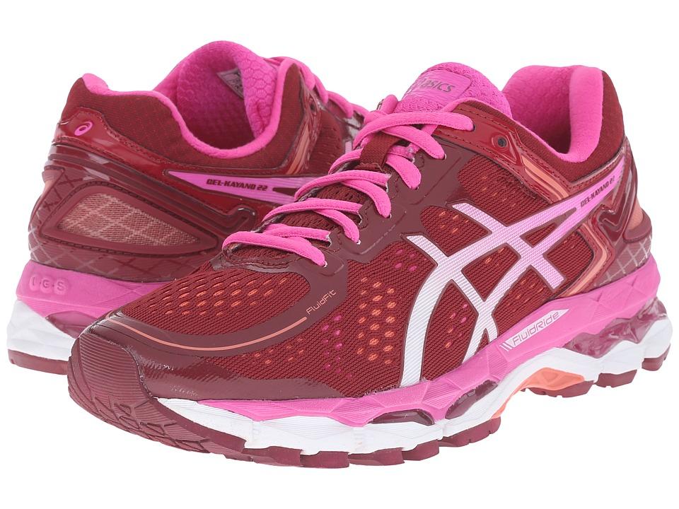 ASICS - GEL-Kayano(r) 22 (Deep Ruby/White/Pink Glow) Women's Running Shoes