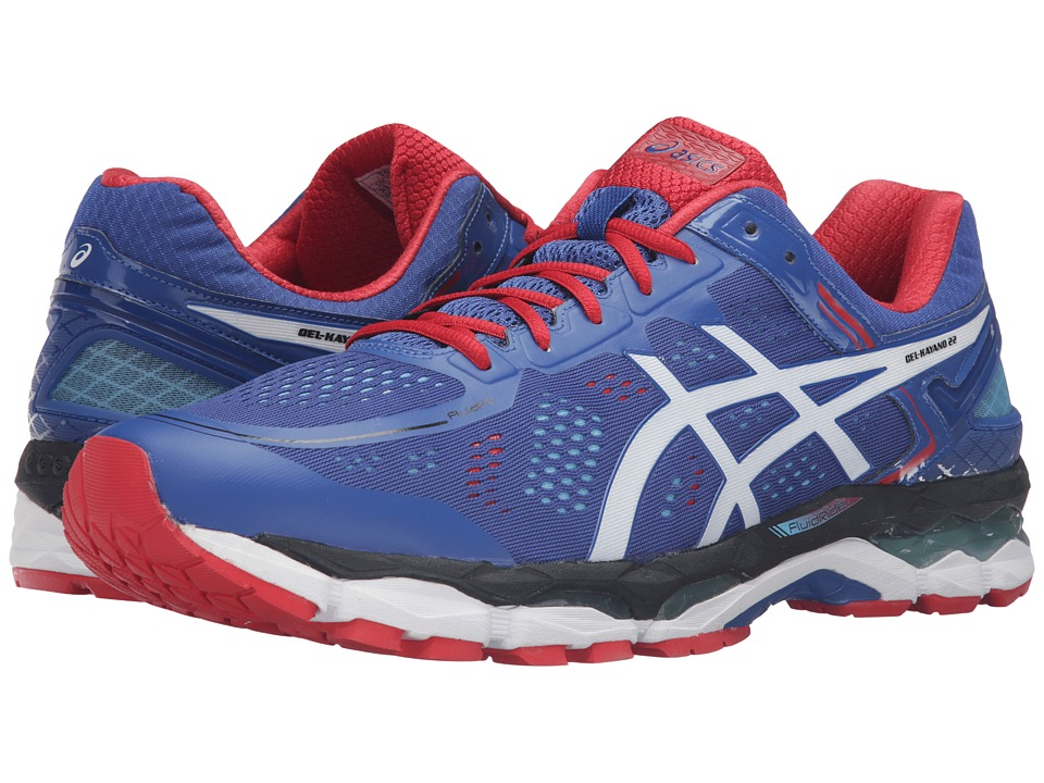 ASICS - GEL-Kayano 22 (Blue/White/Fiery Red) Men's Running Shoes