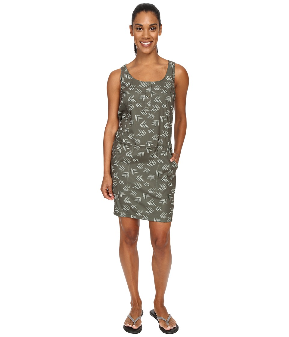 Toad&Co - Gemma Dress (Dark Moss Print) Women's Dress