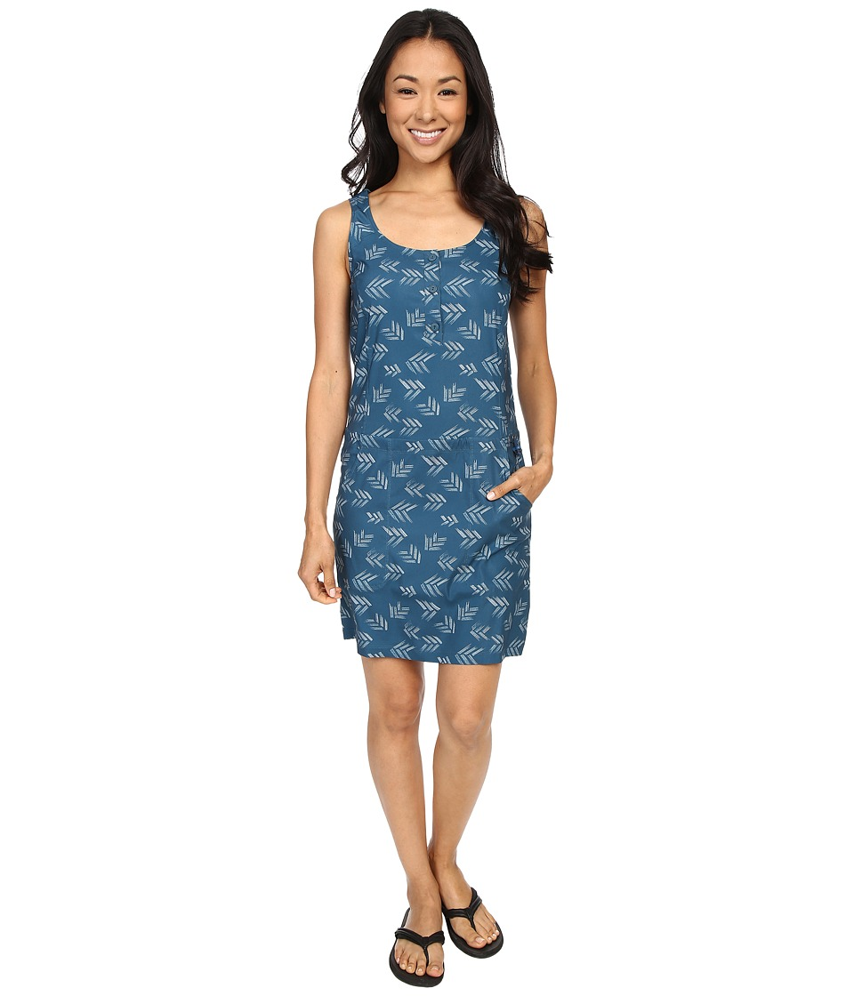 Toad&Co - Gemma Dress (Inky Teal Print) Women's Dress