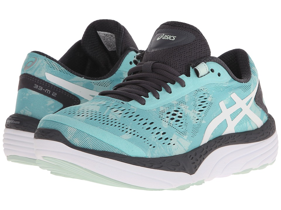 ASICS - 33-M 2 (Pool Blue/White/Iron) Women's Running Shoes
