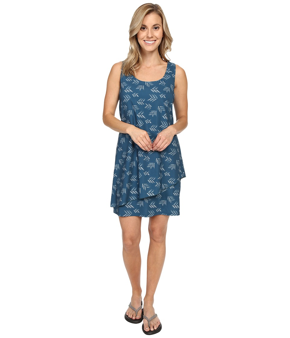 Toad&Co - Whirlwind Dress (Inky Teal Print) Women's Dress