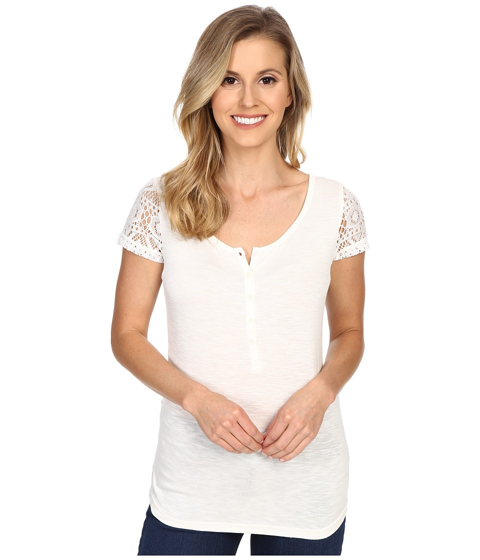 Ariat - Keller Top (Snow White) Women's Short Sleeve Pullover