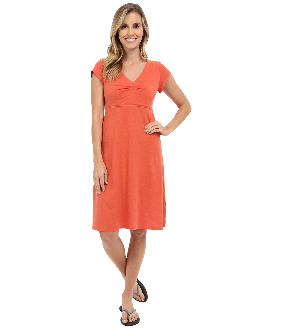 Toad&Co Rozmonde Short Sleeve Dress (Cedar) Women