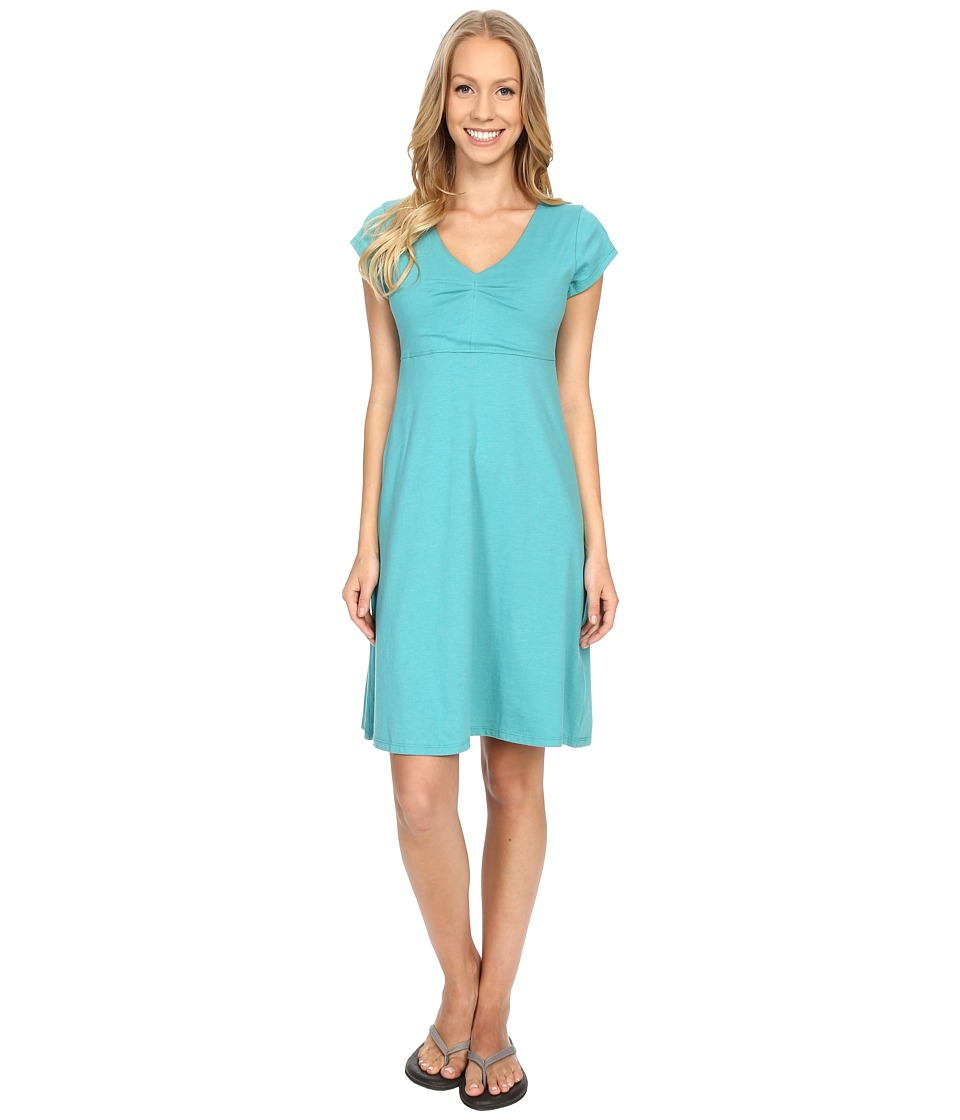 Toad&Co Rozmonde Short Sleeve Dress (Dark Turquoise) Women
