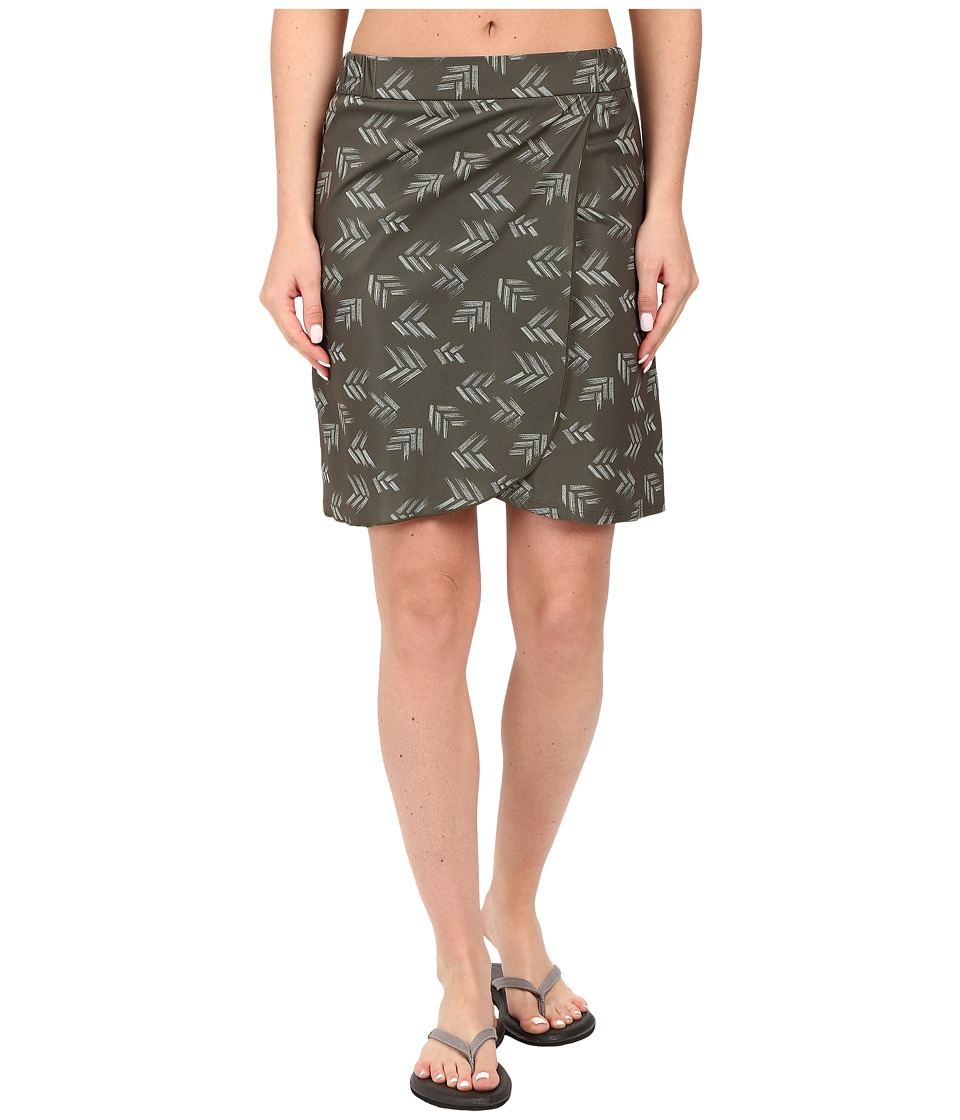 Toad&Co Whirlwind Skirt (Dark Moss Print) Women