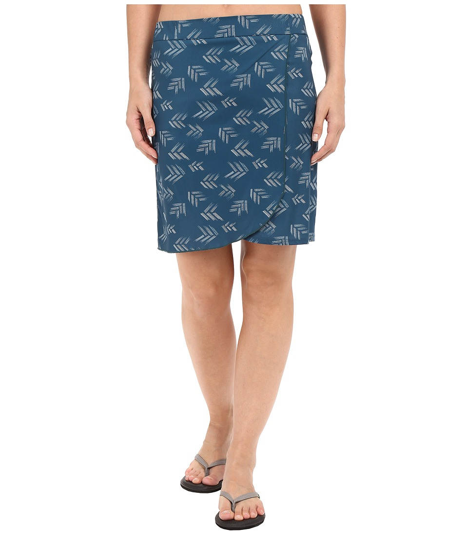 Toad&Co - Whirlwind Skirt (Inky Teal Print) Women's Skirt