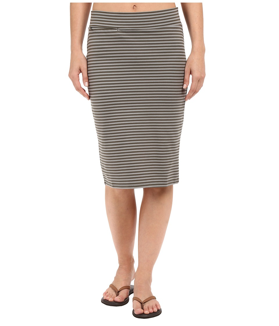 Toad&Co - Transito Skirt (Dark Moss Stripe) Women's Skirt