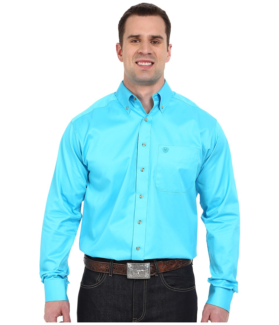 Ariat - Big Tall Solid Twill Shirt (Blue Atoll) Men's Clothing
