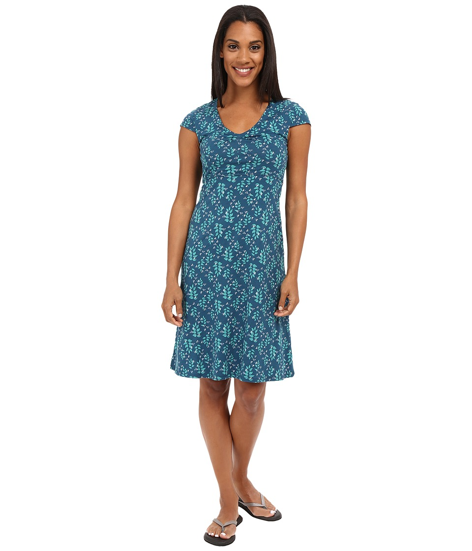 Toad&Co - Rosemarie Dress (Inky Teal Found Forest) Women's Dress