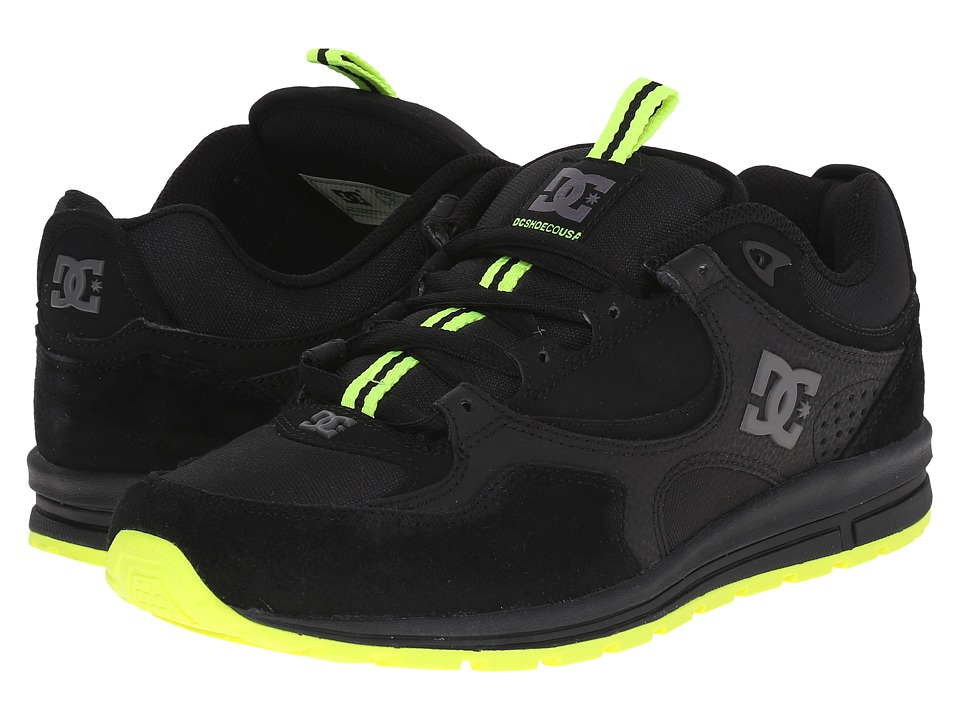 DC - Kalis Lite (Black/Lime) Men's Skate Shoes