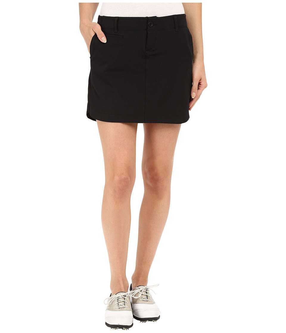 Under Armour Golf - Links Woven Skort (Black/True Gray Heather/Black) Women's Skort