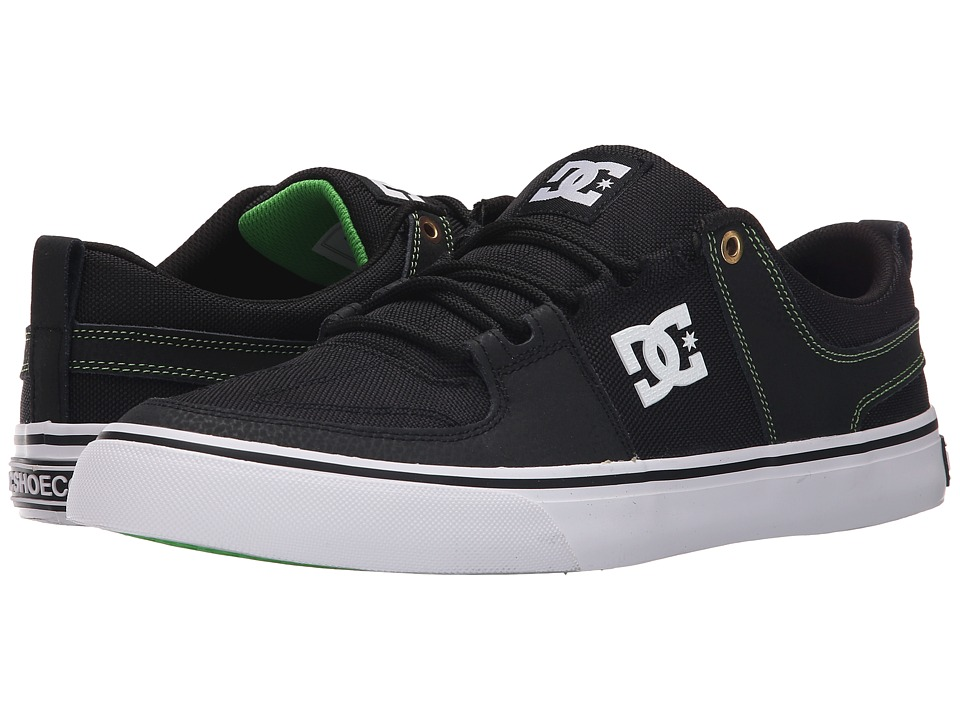 DC - Lynx Vulc Adam C (Black/Green) Men's Skate Shoes