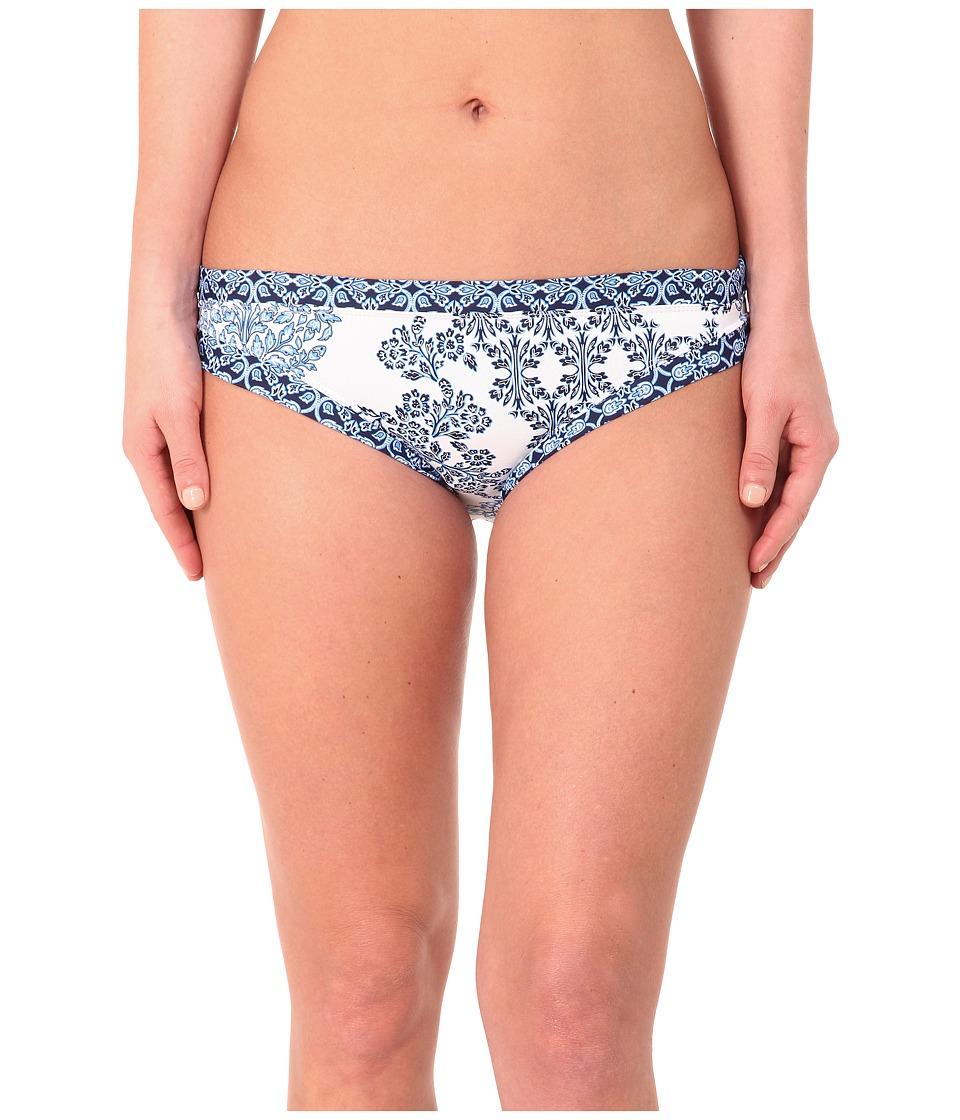 Tommy Bahama - Stamped Medallion Hipster Bikini Bottom (Blue Zaffiro/White) Women's Swimwear