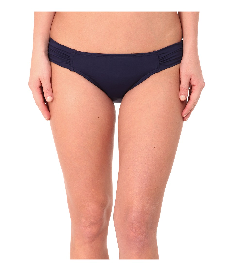 Tommy Bahama - Pearl Solids Side Shirred Hipster Bottoms (Mare Navy) Women's Swimwear