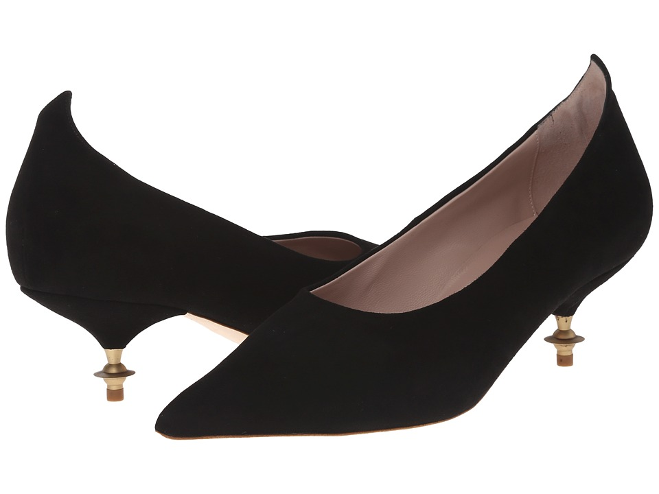 Vivienne Westwood - Pinched Point Court Shoe (Black) Women's 1-2 inch heel Shoes
