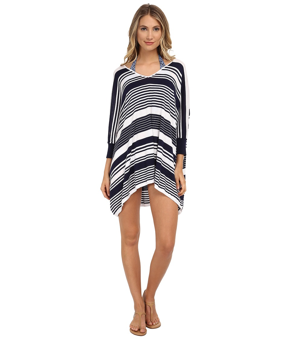 Tommy Bahama - High Low Striped Beach Sweater Cover-Up (Mare Navy/White) Women's Sweater