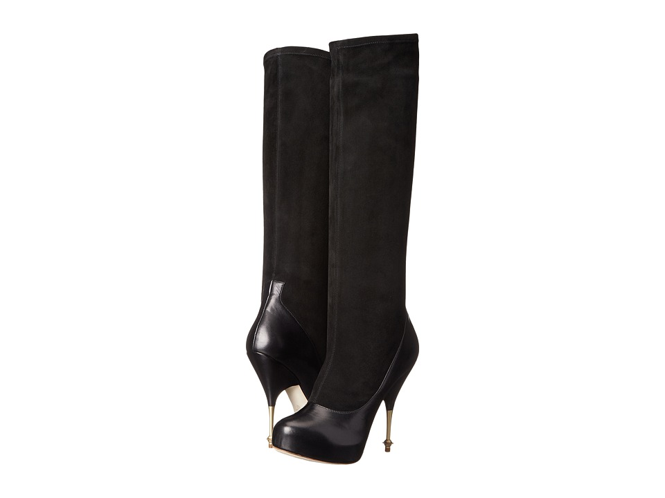 Vivienne Westwood - Stretch Knee Boot (Black) Women's Zip Boots