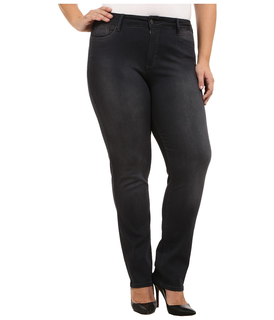 NYDJ Plus Size - Plus Size Marilyn Straight in Sitka (Sitka) Women's Jeans