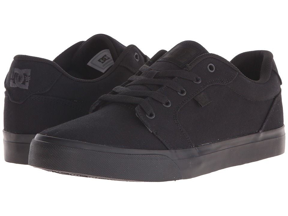 DC - Anvil TX (Black/Black/Black) Men's Skate Shoes