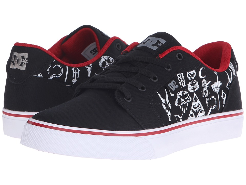 DC - Anvil TX SP (Black Print) Men's Skate Shoes