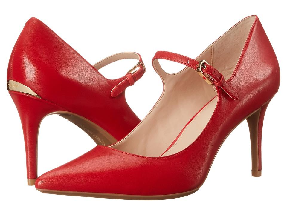 Calvin Klein - Genavee (Lipstick Red Kid Skin) Women's Shoes